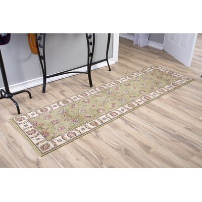 Winthrop Green/Red Area Rug Rug Size: Runner 22 x 73