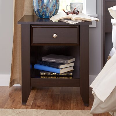 Revere 1 Drawer Nightstand Color: Jamocha Wood