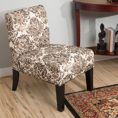 Pierce Slipper Chair Color: Venezia Chocolate
