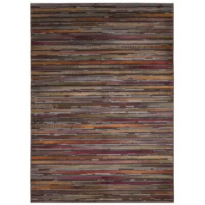 Jay Brown/Red Indoor/Outdoor Area Rug Rug Size: 53 x 73