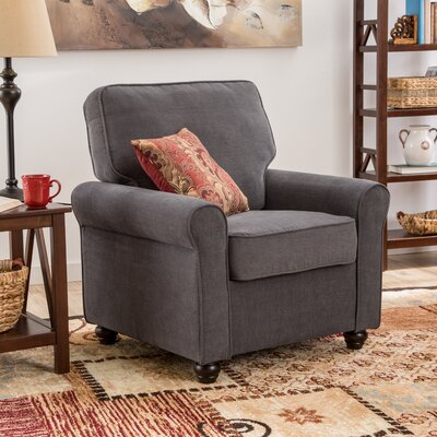 Almeda Arm Chair Upholstrey: Steel