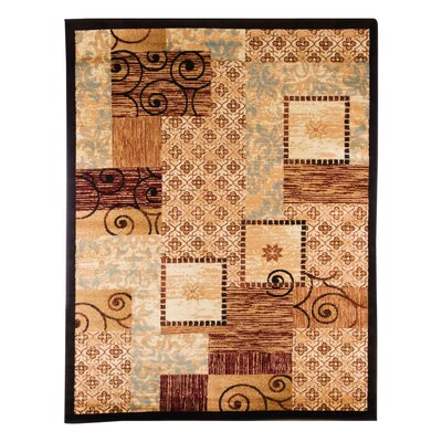 Aloysius Patchwork Beige Area Rug Rug Size: Rectangle 36 x 56