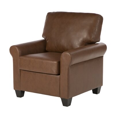 James Club Chair Upholstery: Medium Brown