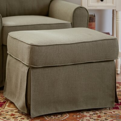 Smith Ottoman Upholstery: Greenwich Laurel
