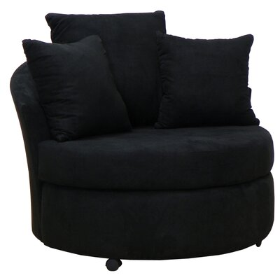 Dewitt Barrel Side Chair Upholstery: Bulldozer Black