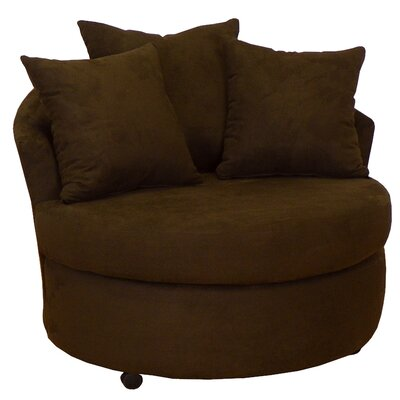 Dewitt Barrel Side Chair Upholstery: Bulldozer Java