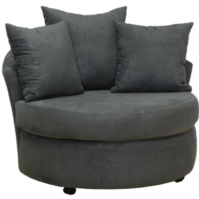 Dewitt Barrel Side Chair Upholstery: Bulldozer Graphite