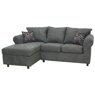 Dewitt Sectional Upholstery: Bulldozer Graphite / Bullseye Pepper
