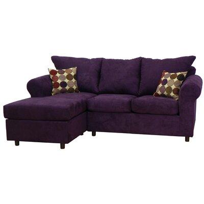 Dewitt Sectional Upholstery: Bulldozer Eggplant / Spectator Vino