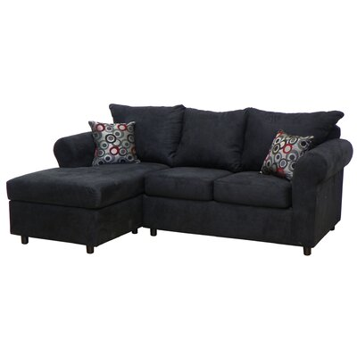 Dewitt Sectional Upholstery: Bulldozer Black / Bullseye Pepper
