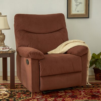 Cecelia Manual Recliner Upholstery: Cocoa