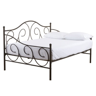 Yolanda Metal Scroll Daybed Color: Bronze, Size: Twin