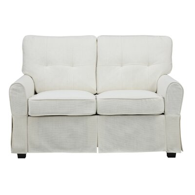 Smith Loveseat Upholstery: Greenwich Ivory