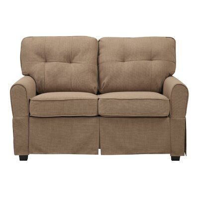 Smith Loveseat Upholstery: Greenwich Pecan