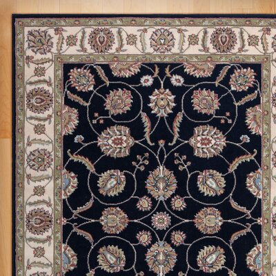 Belle Haven Black/Gray Area Rug Rug Size: Rectangle 53 x 73