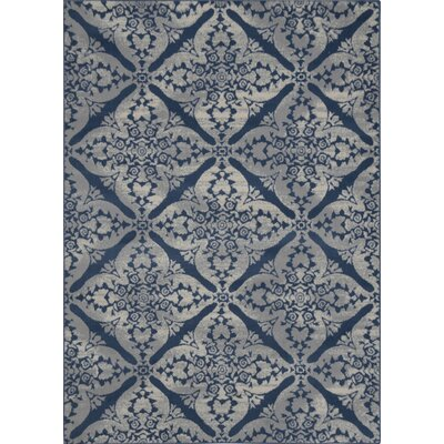Anzell Blue/Gray Area Rug Rug Size: Rectangle 19 x 72