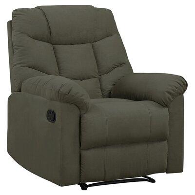 Gertrude Wall Hugger Upholstered Microfiber Recliner Upholstery: Sage