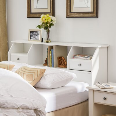 Revere Bookcase Headboard Size: Full/Queen, Color: Soft White