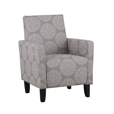 Chalone Polka Dot Armchair Color: Gabrielle Chocolate