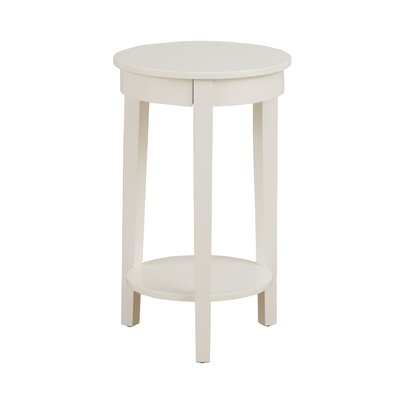 Louis End Table Color: White