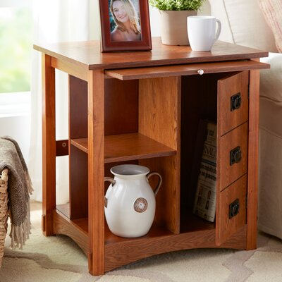 Gordon End Table Color: Oak