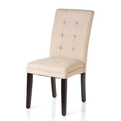 Gardner Side Chair (Set of 2) Upholstery: Oatmeal