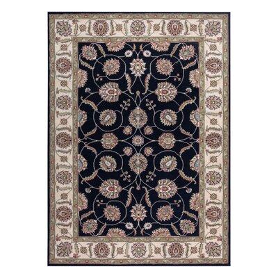 Refton Black/Gray Area Rug Rug Size: 53 x 73