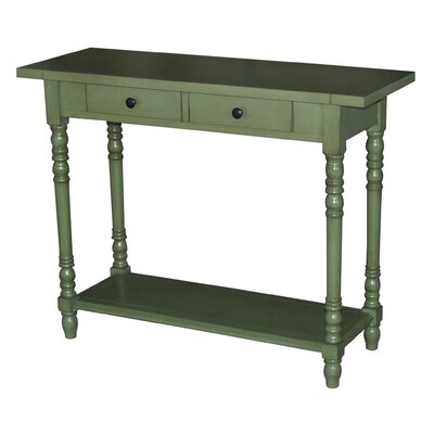 Carleton Console Table Finish: Green