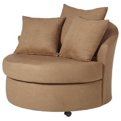 Dewitt Barrel Side Chair Upholstery: Bulldozer Mocha