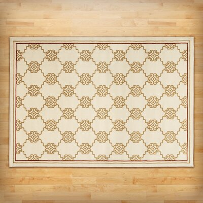 Ivory Trellis Area Rug Rug Size: Rectangle 710 x 1010