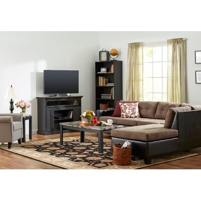 Cecil Marble Top 3 Piece Coffee Table Set Finish: Black and Charcoal