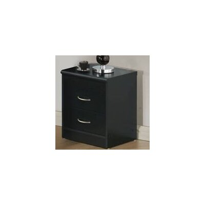 Hornby 2 Drawer Nightstand Color: Black