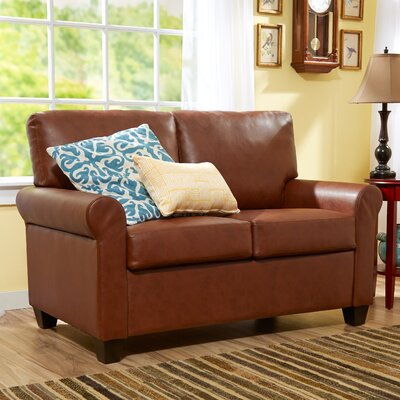 Jay Loveseat Upholstery: Medium Brown