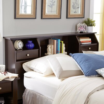 Revere Bookcase Headboard Size: Twin, Color: Jamocha Wood