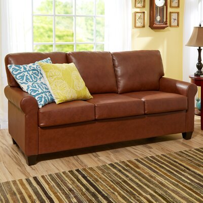 James Leather Sofa Upholstery: Medium Brown