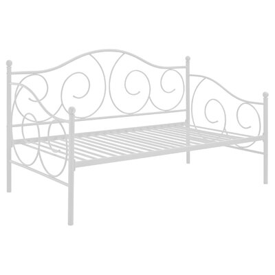 Yolanda Metal Scroll Daybed Color: White, Size: Twin
