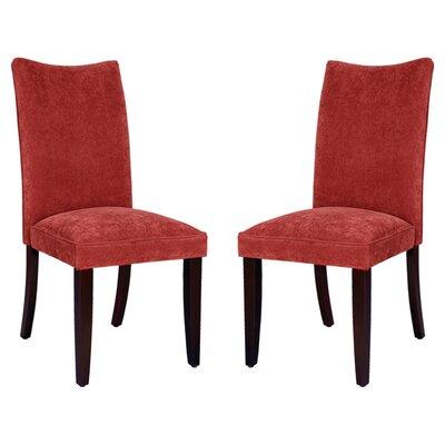 Stoneybrook Parsons Chair (Set of 2) Upholstery: Red Velvet