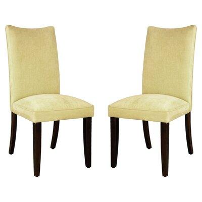 Stoneybrook Parsons Chair (Set of 2) Upholstery: Yellow Velvet