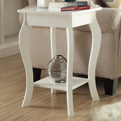 Nathaniel End Table Finish: White