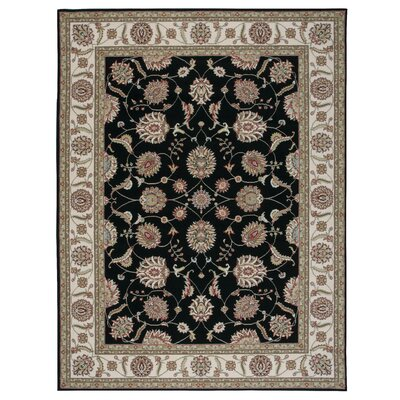 Belle Haven Black/Gray Area Rug Rug Size: 311 x 53