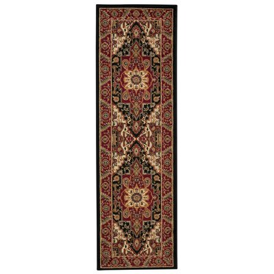 Pierce Red Area Rug Rug Size: Runner 22 x 73