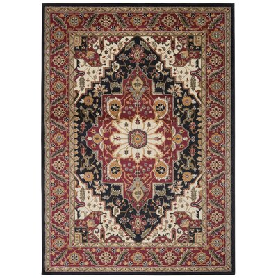 Pierce Beige/Red Area Rug