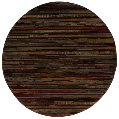 Jay Brown/Red Indoor/Outdoor Area Rug Rug Size: Round 53