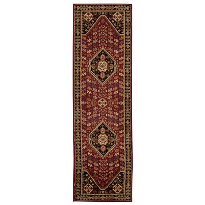 Leland Red Area Rug Rug Size: Runner 22 x 73