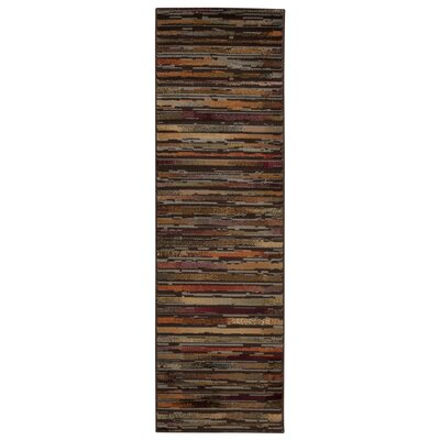 Jay Brown/Red Indoor/Outdoor Area Rug Rug Size: Runner 22 x 73