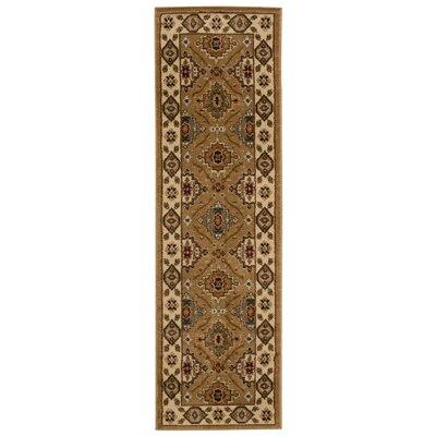 Seymour Gold Area Rug Rug Size: Runner 2'2