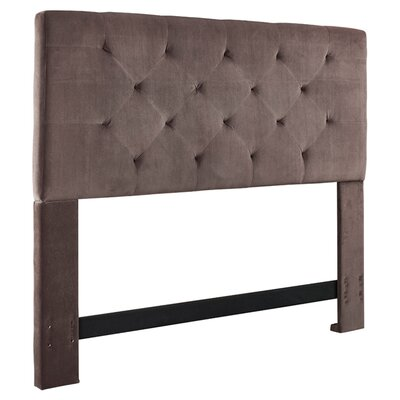 Brennan Upholstered Panel Headboard Size: King/California King, Upholstery: Dove Gray
