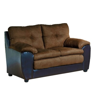 Brewster Loveseat Upholstery: Java/Chocolate