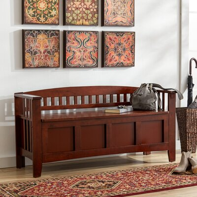 Winthrop Wood Storage Entryway Bench Color: Cherry