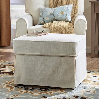 Smith Ottoman Upholstery: Greenwich Ivory